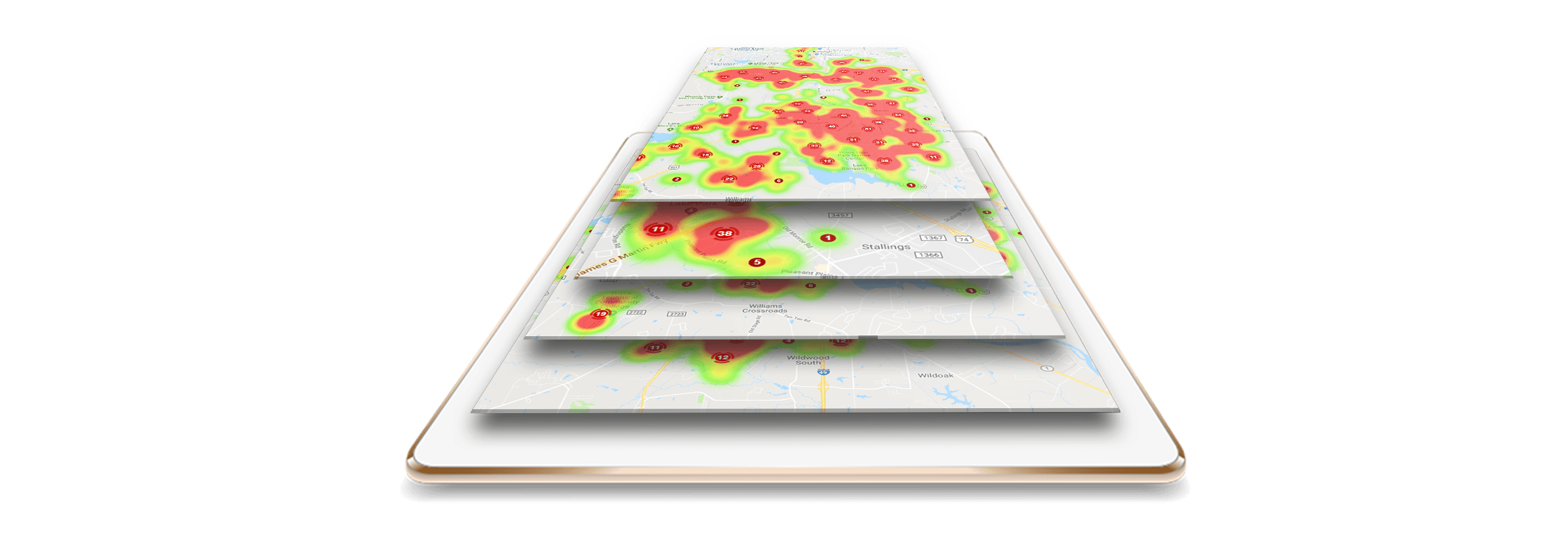 heat mapping graphic